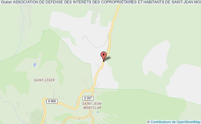 plan association Association De DÉfense Des IntÉrÊts Des CopropriÉtaires Et Habitants De Saint-jean Montclar 04140 MONTCLAR