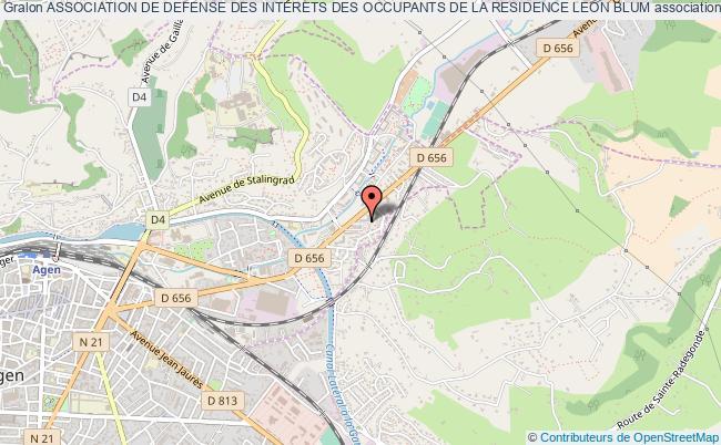 plan association Association De Defense Des Interets Des Occupants De La Residence Leon Blum