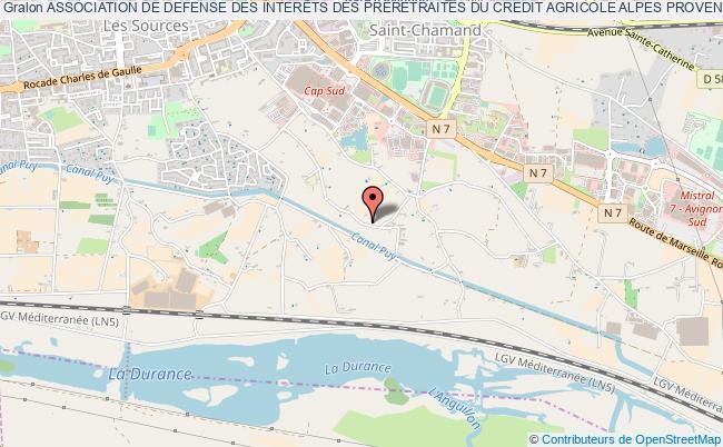 plan association Association De Defense Des InterÊts Des Preretraites Du Credit Agricole Alpes Provence Adipretcap