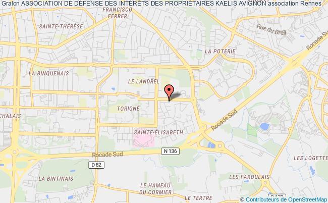 plan association Association De DÉfense Des IntÉrÊts Des PropriÉtaires Kaelis Avignon
