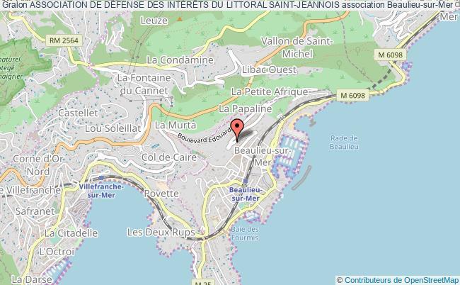 plan association Association De DÉfense Des IntÉrÊts Du Littoral Saint-jeannois