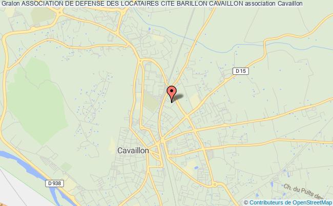 plan association Association De Defense Des Locataires Cite Barillon Cavaillon