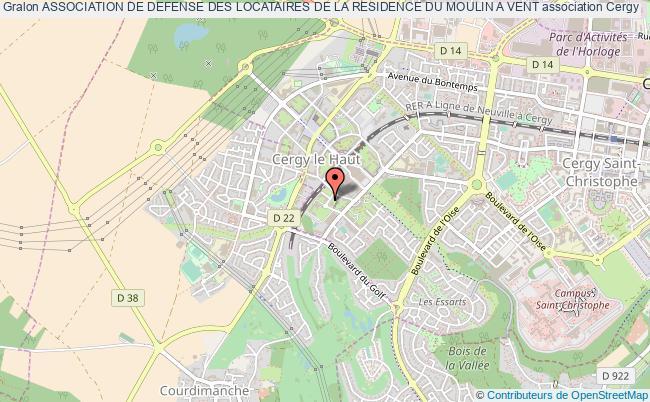 plan association Association De Defense Des Locataires De La Residence Du Moulin A Vent Cergy