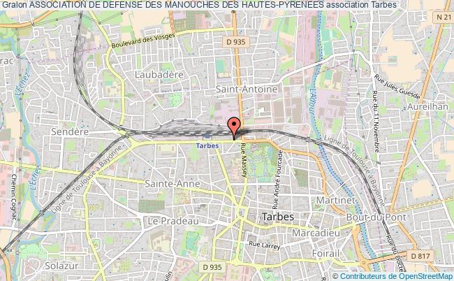 plan association Association De Defense Des Manouches Des Hautes-pyrenees Tarbes
