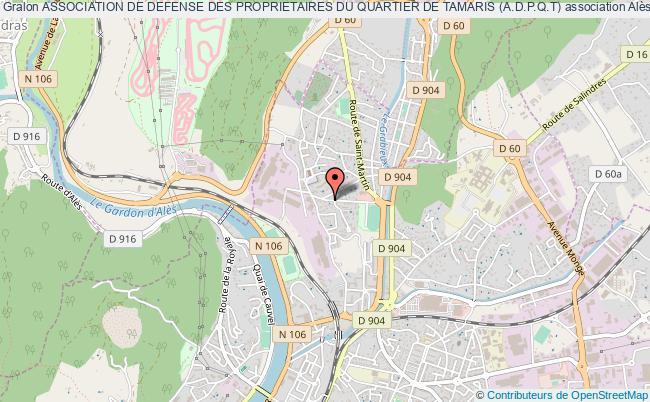 plan association Association De Defense Des Proprietaires Du Quartier De Tamaris (a.d.p.q.t)