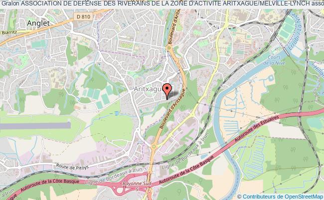 plan association Association De Defense Des Riverains De La Zone D'activite Aritxague/melville-lynch