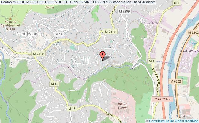plan association Association De DÉfense Des Riverains Des PrÉs