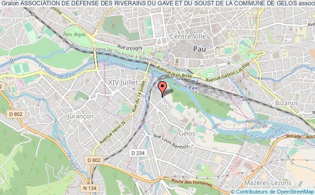plan association Association De DÉfense Des Riverains Du Gave Et Du Soust De La Commune De Gelos