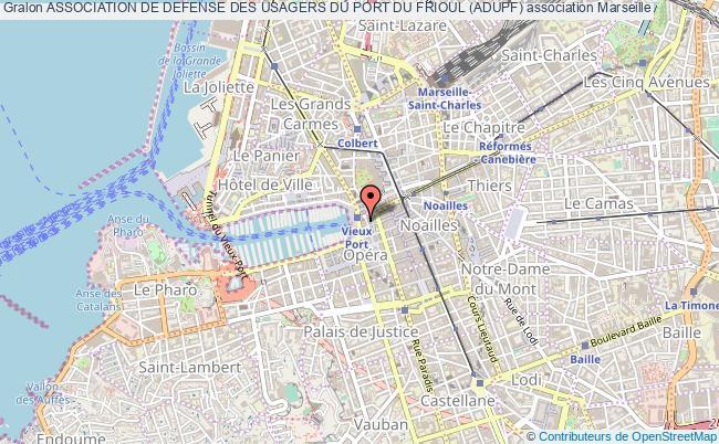 plan association Association De Defense Des Usagers Du Port Du Frioul (adupf)