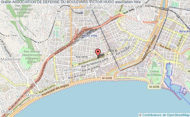 plan association Association De Defense Du Boulevard Victor Hugo Nice