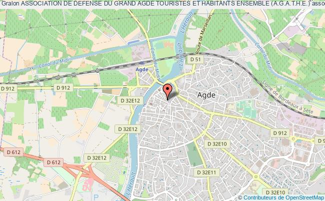 plan association Association De Defense Du Grand Agde Touristes Et Habitants Ensemble (a.g.a.t.h.e.) Agde