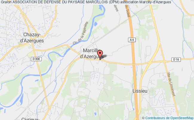 plan association Association De Defense Du Paysage Marcillois (dpm) Marcilly-d'Azergues