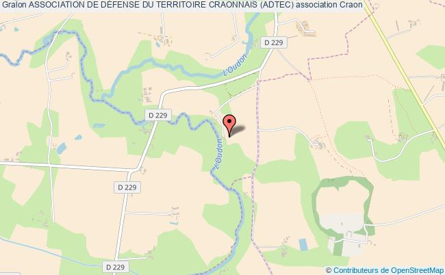 plan association Association De DÉfense Du Territoire Craonnais (adtec) Craon