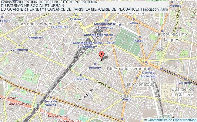 plan association Association De Defense Et De Promotion Du Patrimoine Social Et Urbain Du Quartier Pernety Plaisance De Paris (la Mercerie De Plaisance)