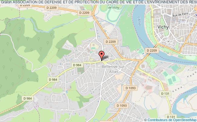 plan association Association De Defense Et De Protection Du Cadre De Vie Et De L'environnement Des Residents Du Domaine Du Parc/la Rigon/fonfrede De Bellerive-sur-allier