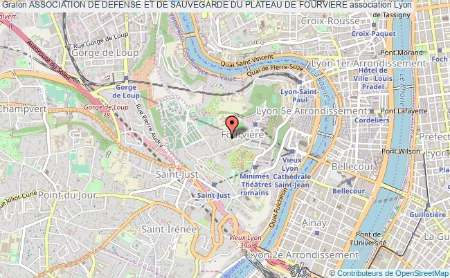 plan association Association De Defense Et De Sauvegarde Du Plateau De Fourviere