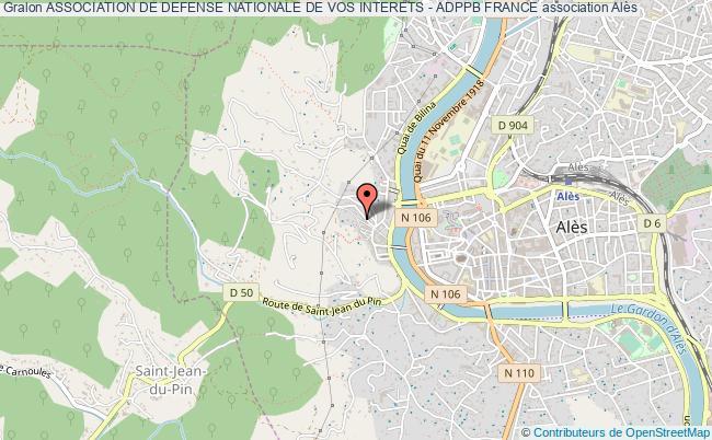 plan association Association De Defense Nationale De Vos Interets - Adppb France