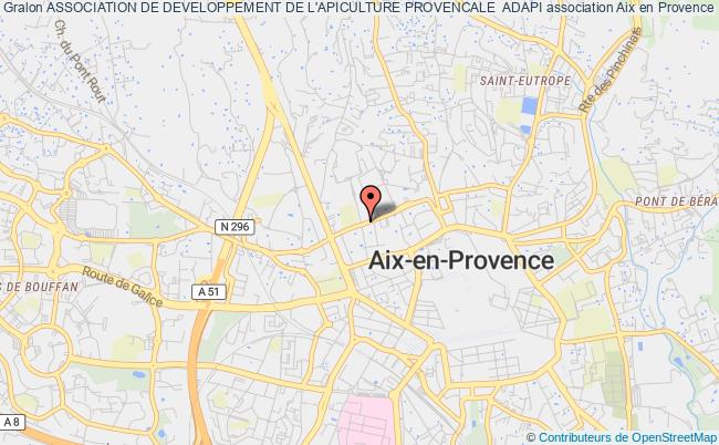 plan association Association De Developpement De L'apiculture Provencale  Adapi