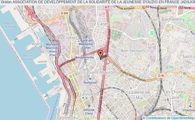 plan association Association De DÉveloppement De La SolidaritÉ De La Jeunesse D'ouzio En France (adsjof) Marseille