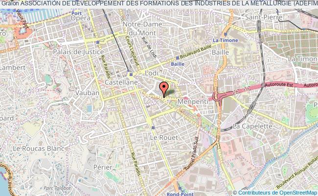 plan association Association De Developpement Des Formations Des Industries De La Metallurgie (adefim) Marseille