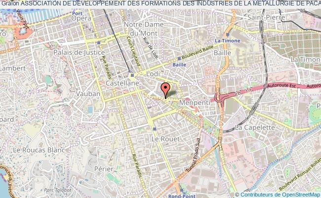 plan association Association De Developpement Des Formations Des Industries De La Metallurgie De Paca Corse (adefim Paca Corse) Marseille