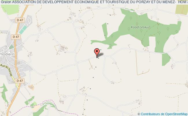 plan association Association De Developpement Economique Et Touristique Du Porzay Et Du Menez-  Hom