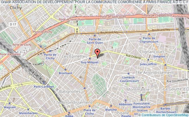 plan association Association De Developpement Pour La Communaute Comorienne A Paris France A D C C F