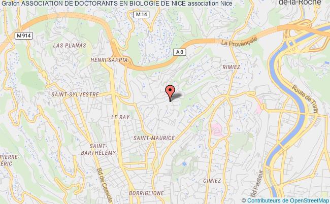 plan association Association De Doctorants En Biologie De Nice