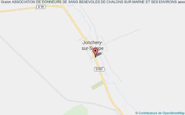 plan association Association De Donneurs De Sang Benevoles De Chalons Sur Marne Et Ses Environs