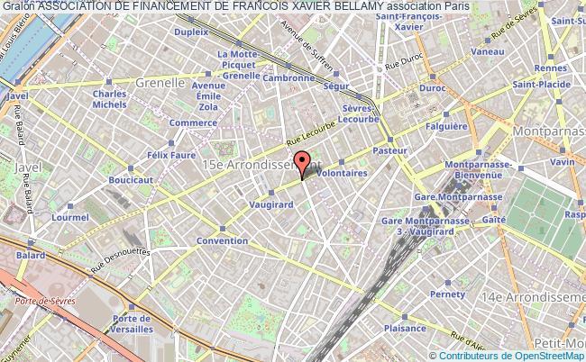 plan association Association De Financement De Francois Xavier Bellamy Paris
