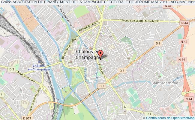 plan association Association De Financement De La Campagne Electorale De Jerome Mat 2011 - Afcjmat 2011