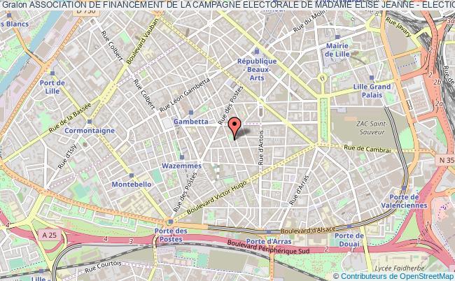 plan association Association De Financement De La Campagne Electorale De Madame Elise Jeanne - Elections Legislatives De Juin 2012 Lille