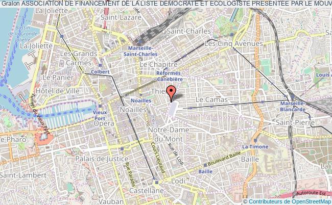 plan association Association De Financement De La Liste Democrate Et Ecologiste Presentee Par Le Mouvement Democrate De M. Jean-luc Bennahmias Marseille