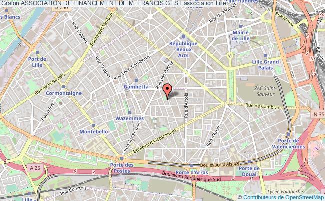 plan association Association De Financement De M. Francis Gest Lille