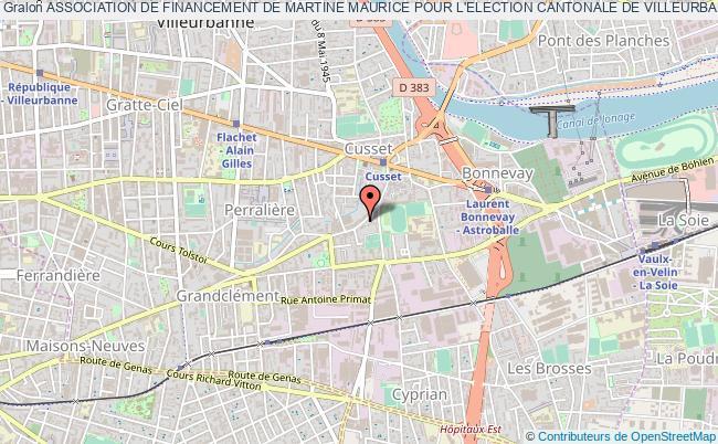plan association Association De Financement De Martine Maurice Pour L'election Cantonale De Villeurbanne Sud De 2011 (adf Mm)