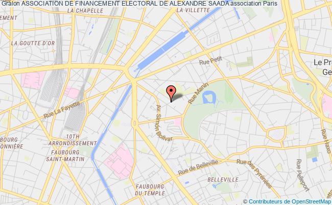 plan association Association De Financement Electoral De Alexandre Saada