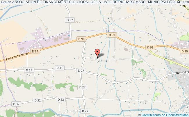 "ASSOCIATION DE FINANCEMENT ELECTORAL DE LA LISTE DE RICHARD MARC ""MUNICIPALES 2014"""