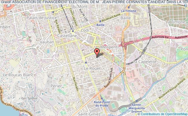 plan association Association De Financement Electoral De M.  Jean-pierre Cervantes Candidat Dans La 1ere Circonscription  Du Vaucluse Dans Le Cadre Des Elections Legislatives Des 11 Et 18 Juin 2017 Marseille