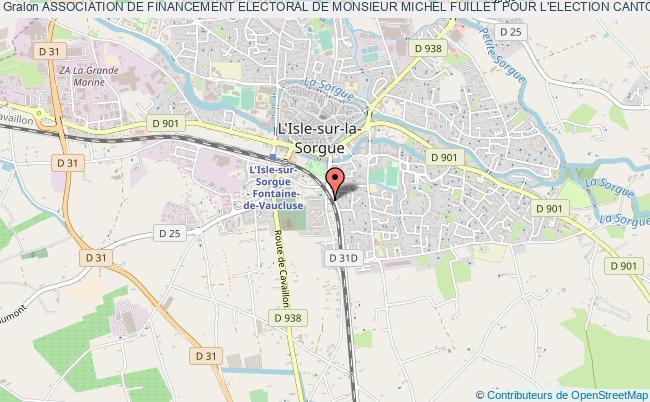 """plan association Association De Financement Electoral De Monsieur Michel Fuillet Pour L'election Cantonale Des 20 Et 27 Mars 2011 - """"a.f.e.m.f"""" -"""