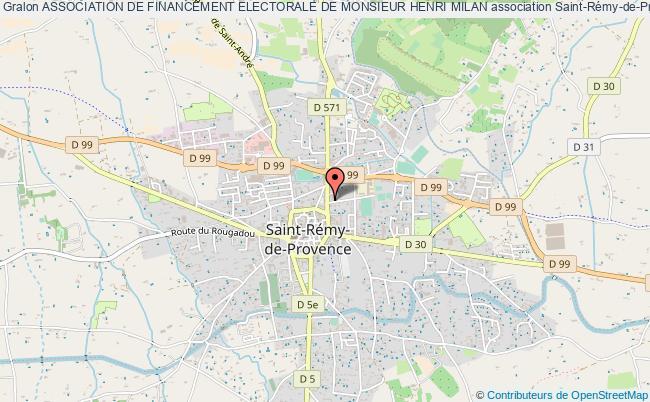 plan association Association De Financement Electorale De Monsieur Henri Milan