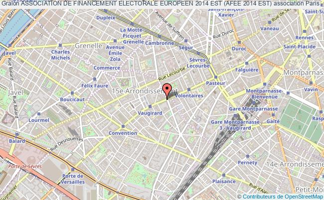 plan association Association De Financement Electorale Europeen 2014 Est (afee 2014 Est) Paris