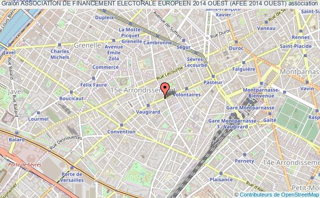 plan association Association De Financement Electorale Europeen 2014 Ouest (afee 2014 Ouest) Paris Cedex 15