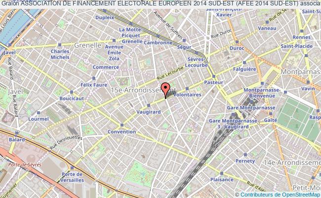 plan association Association De Financement Electorale Europeen 2014 Sud-est (afee 2014 Sud-est) Paris