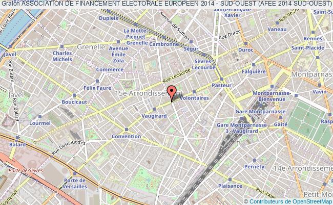 plan association Association De Financement Electorale Europeen 2014 - Sud-ouest (afee 2014 Sud-ouest) Paris