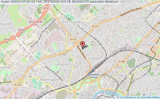 plan association Association De Fmc Des Medecins De Besancon Besançon