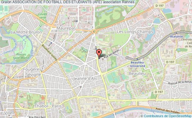 plan association Association De Football Des Etudiants (afe)