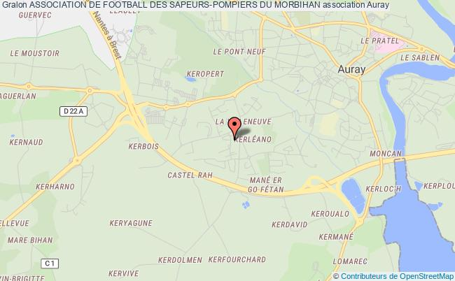 plan association Association De Football Des Sapeurs-pompiers Du Morbihan Auray