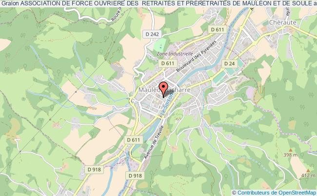 plan association Association De Force Ouvriere Des  RetraitÉs Et PrÉretraitÉs De MaulÉon Et De Soule
