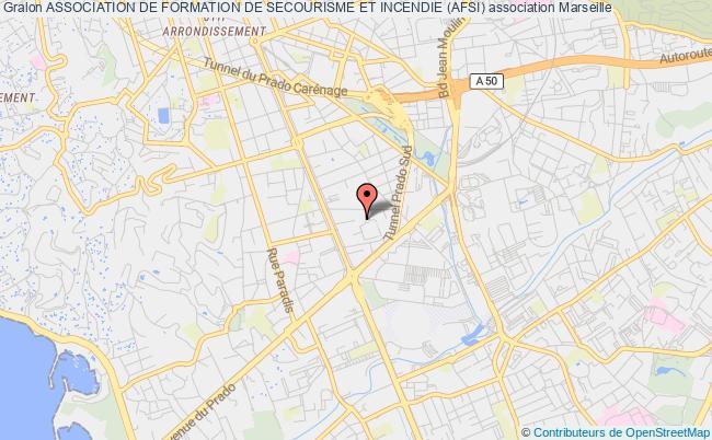 plan association Association De Formation De Secourisme Et Incendie (afsi) Marseille