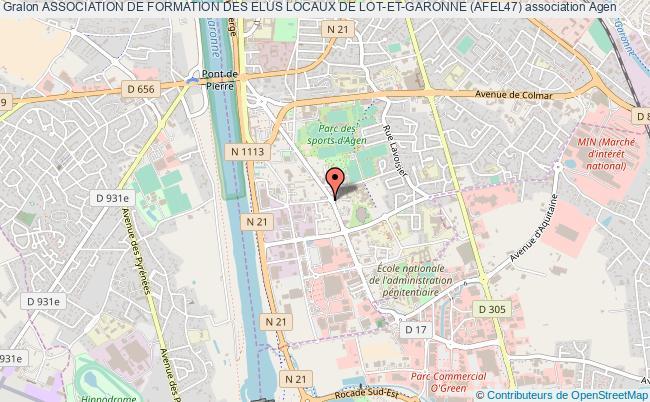 plan association Association De Formation Des Elus Locaux De Lot-et-garonne (afel47)